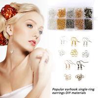 1125pcs DIY Earring Making Supplies Kit Earring Hooks Jump Rings DIY Repair Set