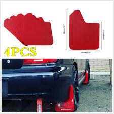 4Pcs Red Plastic Car Styling Sports Mud Flaps Protector Splash Guards + Screws