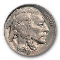 1916 D 5C Buffalo Nickel ANACS MS 63 Uncirculated Better Date Original Lustrous