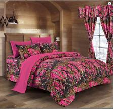 Hi Viz Pink The Woods Woodland Camo King Comforter-Free Ship