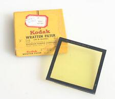 Kodak Wratten (K-3) Yellow Glass 3 Inch Square Filter In Box