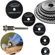 6PCS HSS Circular Saw Blades For Dremel Rotary Tool Wood/Metal Cutting Mandrel