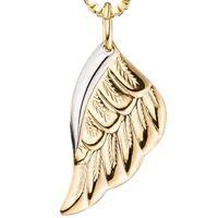 Anhänger Flügel Engelsflügel aus 333 Gold Gelbgold rhodiniert Halsschmuck Damen