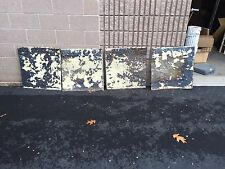 "Gorgeous antique Victorian tin ceiling pressed edge pattern 4 - 24"" sq pcs"