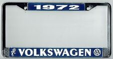 1972 Volkswagen VW Bubblehead Vintage California License Plate Frame BUG BUS T-3