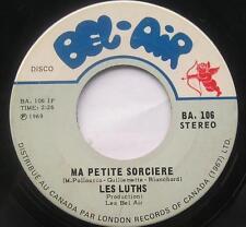 **LES LUTHS (Lutins) Ma petite sorciere FRENCH GARAGE BEAT MOD 45 CDN 1969