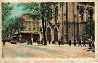 CPA  Nice - Eglise Notre-Dame et Avenue de la Gare     (203320)