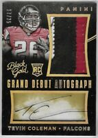2015 Black Gold Tevin Coleman Grand Debut Patch Auto Rookie SSP SP /25 49ers TI