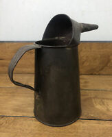 Vintage Automobile Railroad Tin Oiler Pitcher 1 Quart