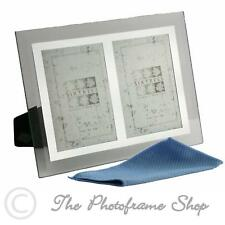 Sixtrees Stanbridge GM174-2 6x4 inch Bevelled Glass & Mirror Line Photo Frame
