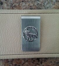 WOLF AND THE MOON MONEY CLIP (MENS GIFT)