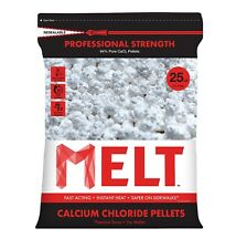 25 lb. MELT Professional Strength Calcium Chloride Pellets Ice Melter - Re-Seala