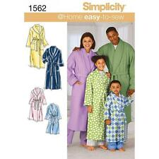 SIMPLICITY SEWING PATTERN UNISEX CHILD'S TEENS & ADULTS RIBE & BELT XS -XL 1562