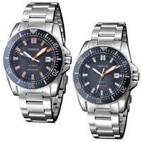 43mm parnis Black dial Date Saphirglas 20ATM Miyota Automatisch Uhr men's Watch