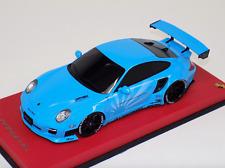 1/18 GT Spirit Porsche 997 LB Performance Liberty Walk Baby Blue KJ011 Leather