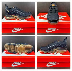 Nike Air VaporMax Plus 'Black Gold' Running Shoes [CW7299-001] Men's Sz 10.5
