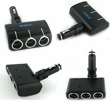 ISewa 3 Way 5amp In Car Cigarette Socket  Splitter Lighter Adapter 12V/24V BlacK