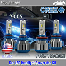 CREE LED Headlight Bulbs for 2007-2017 Toyota Camry High Beam 9005+Low Beam H11