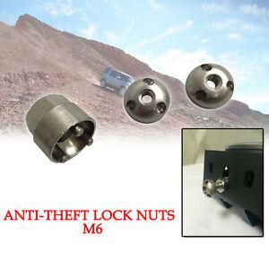 Universal Key M6 Anti Theft Security Lock Screw Nut Tool Suit Led Driving Light
