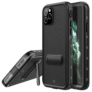 For Apple iPhone 11 Pro Max Waterproof Case Shockproof Cover with Kickstand