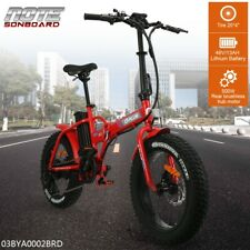 Electric City Bicycle Mountain Cycling Folding Bike Motor 20'' 500W 48V RED