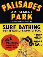 TRAVEL Palisades parco divertimenti Surf il bagno NEW JERSEY USA posterprint bb7600b