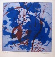 THEO BRAUN , 1922 KARBITZ - 2006 BRUNN am GEBIRGE . EISENRADIERUNG ,  signiert