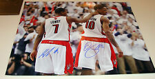 Toronto Raptors Kyle Lowry Demar DeRozan Dual Signed NBA Basketball 16x20 Photo