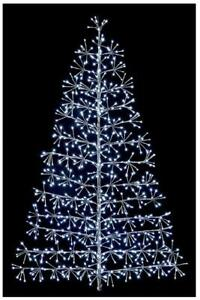 1.2m Silver Starburst Xmas Tree with White LEDs Outdoor Christmas Decoration