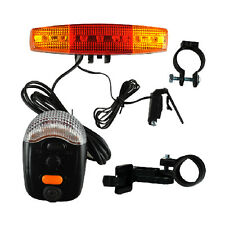 7-LED Bicycle Bike Tail Turn Signal Directional Brake Light Lamp 8-sound Horn