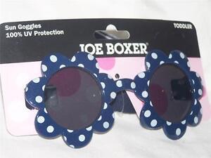 Joe Boxer BLUE Polka-Dot Sunflower Sun Goggles TODDLER 100% UV Protection Child