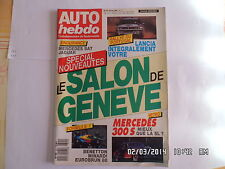 AUTO HEBDO N°615 9 MARS 1988 SALON GENEVE RALLYE PORTUGAL MERCEDES 300 S  F43