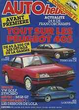 AUTO HEBDO n°534 du 6 Août 1986 GOLF SYNCHRO MGB GT