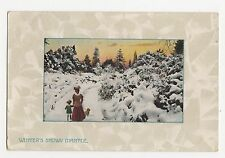 Winters Snowy Mantle, Ettlinger Greetings Postcard, A710