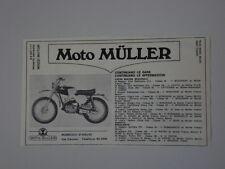 advertising Pubblicità 1970 MOTO MULLER