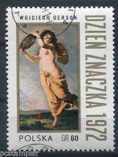 POLOGNE 1972, timbre 2033, TABLEAU WOJCIECH GERSON, JOURNEE TIMBRE, oblitéré