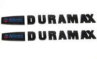 2x OEM ALLISON DURAMAX EMBLEMS for GM SILVERADO 2500HD 3500HD HD New Black