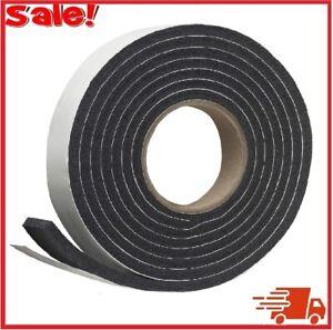 Rubber Foam Weather Stripping Tape 5/16-inch Black Door Window Car Seal