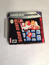 GBA Gameboy Advance: Super Mario Bros. (Classic NES Series Edition)  damaged box
