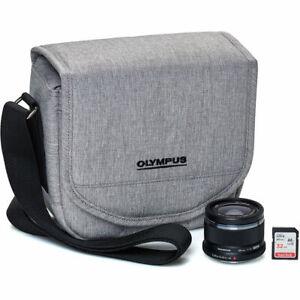 Olympus M.Zuiko 25mm f/1.8 Lens Step-Up Kit Bundle (w/ Hood, Case, SD Card)