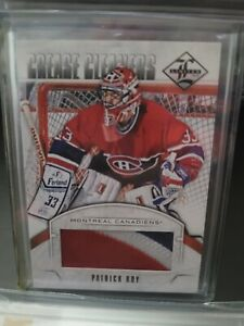 2012-13 Panini Limited Crease Cleaners Materials CCPR Patrick Roy PATCH 2/5