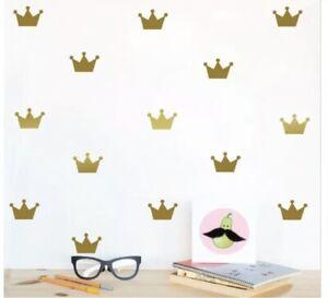 Crown Shape Wall Stickers Children's Bedroom Nursery Princess Crowns Vinyl Decal