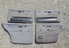 VW Golf 2 5 Türer Seitenverkleidung Türpappen Pappen Chromzierleiste Grau #3