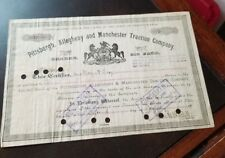 New listing Pittsburgh Allegheny & Manchester Traction Pennsylvania 1891 Stock Certificate