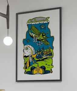 Galaxian 1979 Midway Arcade Retro Video Game Poster 24 x 36 inches