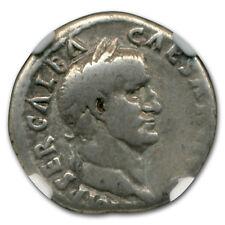 Roman Silver Denarius Emperor Galba (68-69 AD) Fine NGC