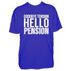 Uomo Pensione Tshirt - Goodbye Tension Pensione Ciao - Regalo T shirt