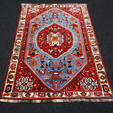 Orient Teppich Blau 164 x 116 cm Rot Perserteppich Handgeknüpft Carpet Rug Tapis
