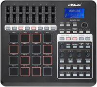 PANDA200 Portable USB MIDI Controller Keyboard 16 Drum Pads for Win7 Vista Win8