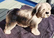 Large Old English Sheepdog Ornament Grey White Dulux Dog